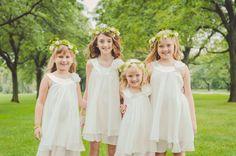 adorable flower girls | autumn dreamy garden wedding by soda fountain photography