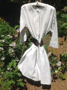 "Free shipping. Antique French Metis Night Gown. Lovely Example. Monogram ""EP"". Wonderfully Handstitched.Difficult to Find in This Condition by FleursEnFrance on Etsy"