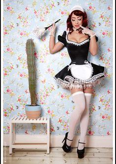 A classy sissy maid dress