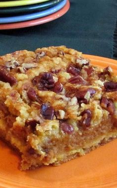 Recipe for Better Than Pumpkin Dump Cake - This pumpkin dessert is so good that everyone will be begging for the recipe, just like I did when I first tried it. Delicious Cake Recipes, Best Dessert Recipes, Holiday Recipes, Fall Recipes, Fall Desserts, Just Desserts, Cake Plates, Dump Cakes, Pumpkin Dessert