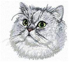 Stock of embroidery designs Portrait Embroidery, Color Blending, Cat Breeds, Animals And Pets, Persian, Embroidery Designs, Dog Cat, Owl, Bird