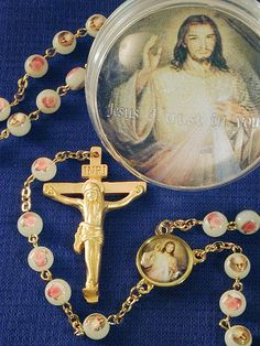 Divine Mercy Luminous Rosary with Picture Box