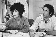 Still of Nicolas Cage and Cher in Moonstruck