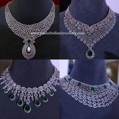 Necklace Diamond Necklace Set versus Diamond Choker Necklace Online In India Diamond Solitaire Necklace, Diamond Pendant Necklace, Diamond Jewelry, Gold Jewelry, Diamond Jewellery Indian, Indian Diamond Necklace, Dimond Necklace, Indian Jewelry Sets, Craft Jewelry