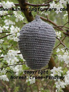 Succulent Care Discover Crocheted Wasp Nest PDF Pattern to scare away wasps designed by Noreen Crone-Findlay (c) Crocheted Wasp Nest PDF Pattern to scare away wasps designed Crochet Bee, Free Crochet, Fake Wasp Nest, Bird Nesting Material, Knitted Teddy Bear, Diy Bird Feeder, Mermaid Dolls, Yard Art, Crochet Projects