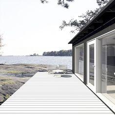 SAARISTO_S1_7 Summer House Interiors, Sauna Design, Summer Cabins, Cozy Cottage, Black House, Beautiful Homes, Outdoor Living, Backyard, Villa