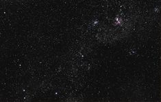 Southern Cross and Carina Nebula - Untracked DSLR and lens