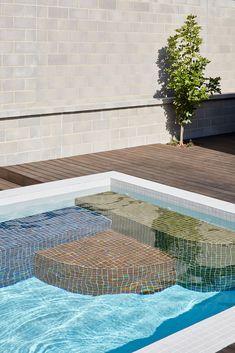 Tile Steps, Pool Steps, Save For House, Modern Pools, Small Pools, Swimming Pools Backyard, Australian Homes, Staircase Design, Interior Design Studio