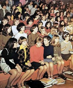 High school assembly, 1968.