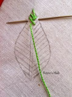 Royce's Hub: Embroidery Stitches For Leaves : Fishbone Stitch and Variations. Royce's Hub: Embroidery Stitches For Leaves : Fishbone Stitch and Variations. - Royce's Hub: Embroidery Stitches For Leaves : Fishbone Stitch and Variations.