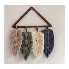 Excited to share this item from my etsy shop macreme feathers wall decor home decor macrame feather hanging macrame feather macrame feather wall hanging wall hanging best living room decor diy apartment life ideas Diy Macrame Wall Hanging, Macrame Art, Macrame Projects, Hanging Wall Art, Macrame Knots, Wall Hangings, Macrame Mirror, Macrame Curtain, Hanging Plant