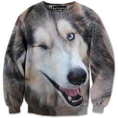 2ab385bb7 Wink Wink Sweatshirt // Beloved Shirts Dog Shirt, Sweater Shirt, Ugly  Sweater,