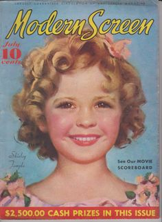 Shirley Temple on the July 1935 Modern Screen