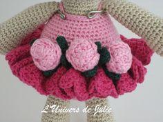 Bibi the Ballerina Bear Ours Ballerine SmartApple Creations L'univers de Julie Nouvelle photo Détail roses