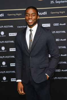 Actor Chadwick Boseman at the 'Get on Up' Premiere in Zurich