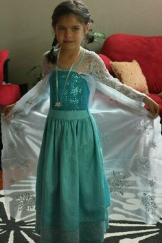 "The ""Elsa"" dress from ""Frozen"" Elsa Dress, Dress Up, Craft Activities For Kids, Crafts For Kids, Frozen Costume, Time Kids, Frozen Party, Halloween Ideas, Costume Ideas"