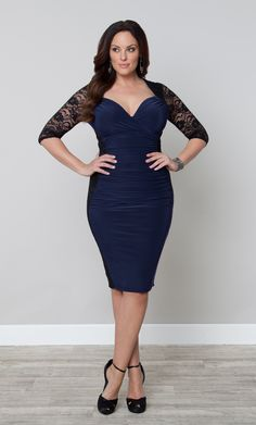 Plus Size Valentina Illusion Lace Dress by Kiyonna is the perfect dress for holiday parties, weekends in Vegas and general turning heads.  #KiyonnaPlusYou  #Kiyonna  #PlusSize
