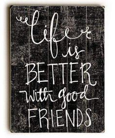 Good Friends Quote Wooden//Mirror Heart Shape Plaque Sign Engraved ht31