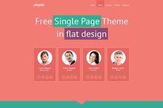 Free Single Page Website Template for Business Site http://www.templatemonster.com/free-templates/free-single-page-website-template-flat-design.php?utm_source=PinterestM&utm_medium=timeline&utm_campaign=cxw6ht