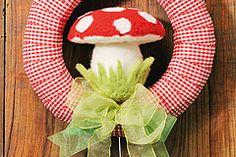 Herbst-Kranz für die Tür Baby Car Seats, Bricolage, Crown Cake, Ideas