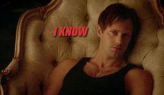 "My Eric has Hep- V!!! Damn, Damn, DAMN!!!! True Blood episode "" I Found You"". Please, will somebody fix my boy's hair, like NOW?  Still love ya though Eric. ;)"