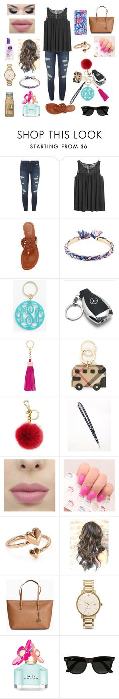 """""""I can't wait til I can drive"""" by ammurphy ❤ liked on Polyvore featuring J Brand, H&M, Tory Burch, Aurélie Bidermann, Moon and Lola, Mercedes-Benz, Kate Spade, Burberry, Michael Kors and Vineyard Vines"""