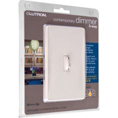Trademark Commerce Q-603PHW-LA Lutron Qoto Dimmer & Switch 600W 3-Way - Light Almond