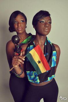 Ghanaian girls repping