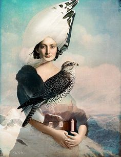 Iceland by Catrin Welz-Stein: 2018 Fantasy Paintings, Fantasy Art, Surealism Art, Claudia Tremblay, Art Fantaisiste, Duck Art, Magic Realism, Surrealism Painting, Arte Pop
