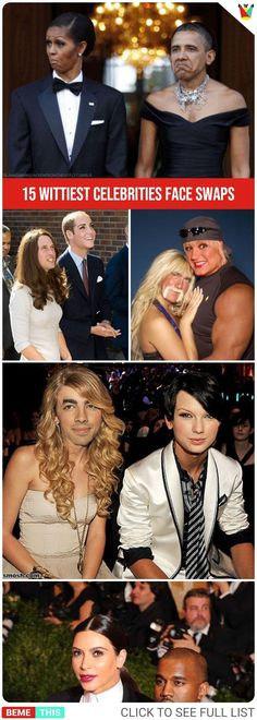 15 Wittiest Celebrities Face Swaps #faceswap #celebrities #humor #funnypics #funny #photoshop #hollywood #funnypictures #photos #bemethis New Funny Memes, Funny Puns, You Funny, Hilarious, Photoshop Face Swap, Funny Photoshop, Best Funny Photos, Funny Pictures, Funny Face Swap