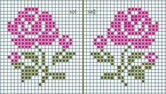 Tiny Cross Stitch, Cross Stitch Cards, Cross Stitch Borders, Cross Stitch Alphabet, Simple Cross Stitch, Cross Stitch Flowers, Cross Stitch Designs, Cross Stitching, Cross Stitch Embroidery