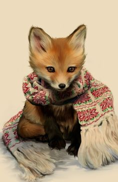 Cozy Fox Art Print by Amy Hamilton