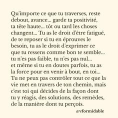 Positive Attitude, Positive Thoughts, Motivational Quotes, Inspirational Quotes, Burn Out, Quote Citation, French Quotes, Daily Inspiration Quotes, Learn French