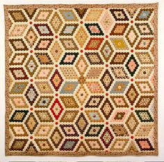 This is stunning - Martha Washington's Flower Garden. I copied it from 'The Quilt Index; where you can get full details of the quilt.