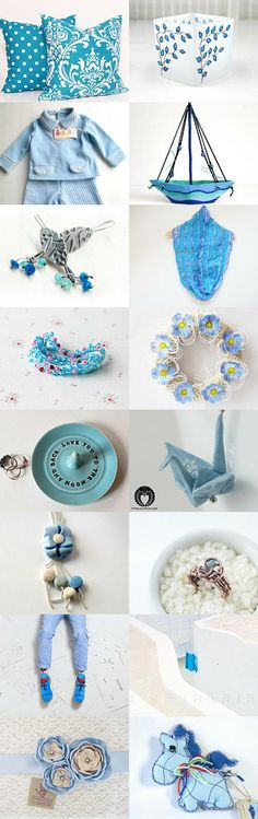 Simply Blue  by Rosalia fdrom daydreamjewels on Etsy--Pinned with TreasuryPin.com