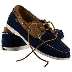 Polo Ralph Lauren Bienne Suede and Leather Boat Shoes
