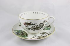 Royal Worcester Jumbo Cup & Saucer Fly Fishing Scene To A Very Important Person by GRCTreasures on Etsy