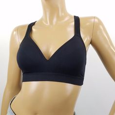 9f579730a5 JOCKEY Sports Athletic Bra Racerback Black Womens Size Small Wire Free   Jockey Women Lingerie