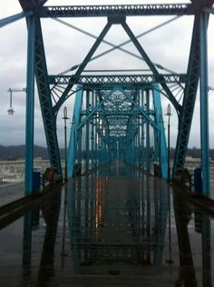 Walnut Street Bridge in the Rain, Chattanooga, TN