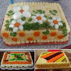 Fruit Decorations, Food Decoration, Sandwich Cake, Sandwiches, Salad Presentation, Salad Design, Kids Meals, Easy Meals, Iran Food