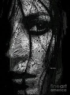 Studio Portrait In Pencil 53 Digital Art by Rafael Salazar