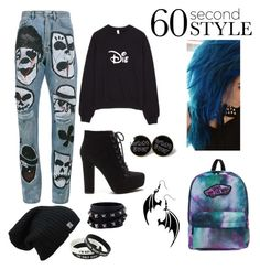 """""""Gothic Drake Fan"""" by yournewbestfreind on Polyvore featuring Faith Connexion, Vans and Valentino"""