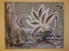 cuadro flor en blanco y negro