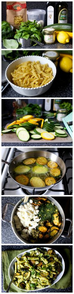 Pasta and Fried Zucchini Salad Recipe