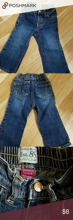 Baby Girls Bootleg Jeans 18 mths Children's Place Good condition with adjustable waist. 1989 Place by Children's Place. Match it with a cute top and some sandals or boots. Bundle for even more savings! :) Children's Place Bottoms Jeans