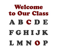 Welcome to Our Class & Alphabet letters Class Decor by OwlArtShop