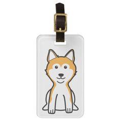 Shiba Inu Dog Cartoon Travel Bag Tag