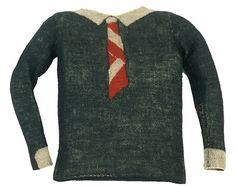 Elsa Schiaparelli--one of her first sweater designs