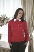 Blusa Vermelha em Ponto Ajurado