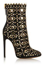 AlaïaEmbellished suede boots